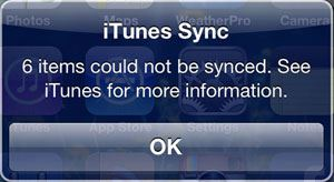 why wont my ipod sync