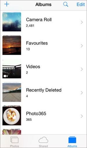 how to create photo albums on iphone