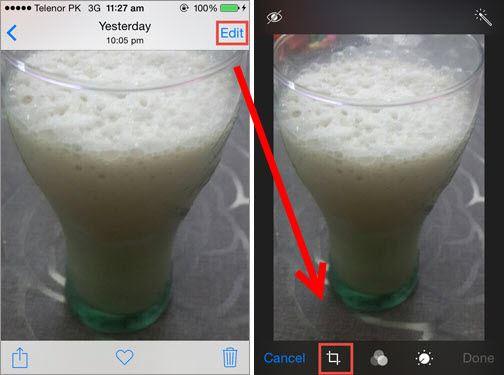 rotate photo iphone