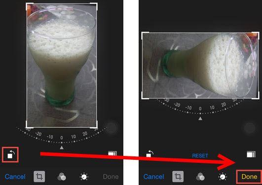 iphone rotate photo