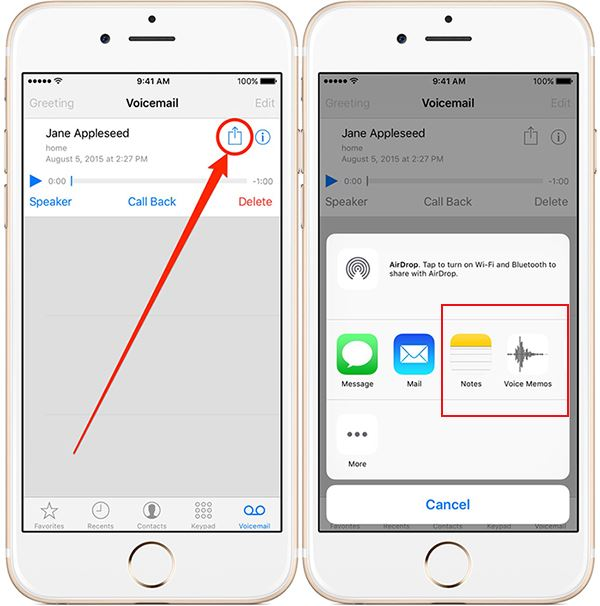 How to Save Voicemails on iPhone SE/6s/6/5s/5c/5/4s/4/3GS