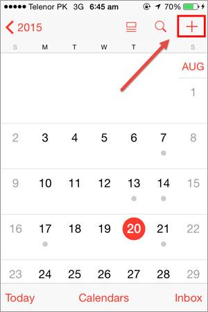 share calendars on iphone