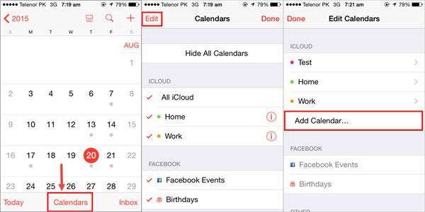 share calendar on iphone