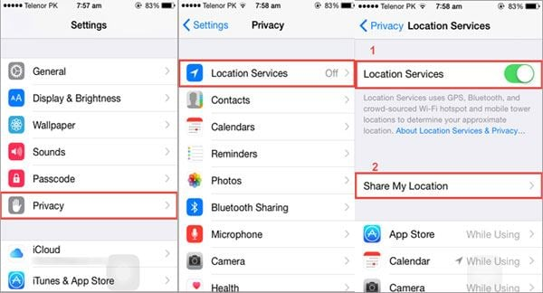 share location iphone 4 ways to location of iphone 6s 6s plus 6 6 plus 2725