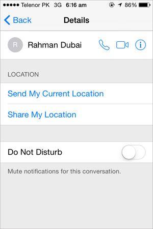 sharing location iphone