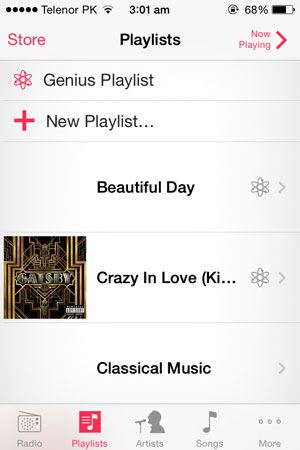 how to make a playlist on iphone