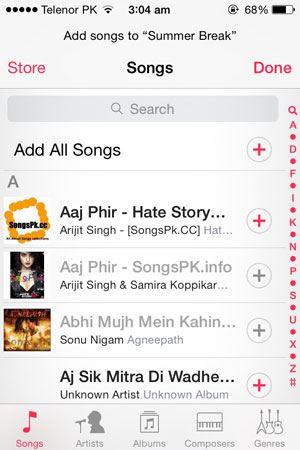 create playlist on iphone