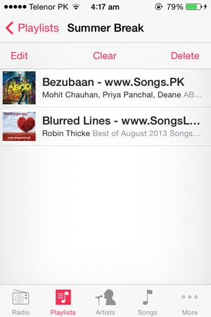 how to create playlist on iphone