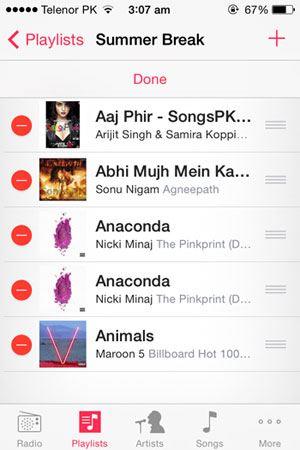 make playlist on iphone