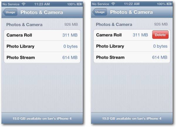 Delete iPhone Camera Roll