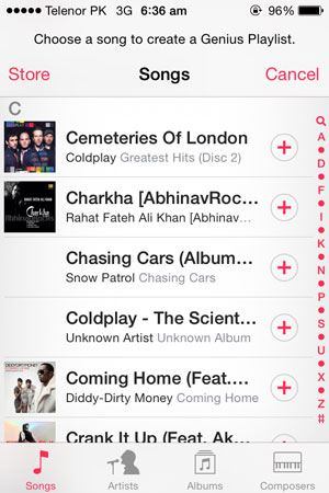 iphone genius playlist
