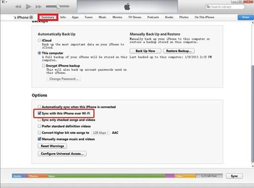 Android to iOS via iTunes