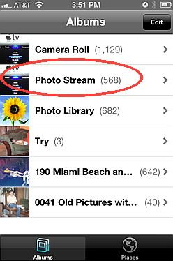 Delete Photo Stream Photos