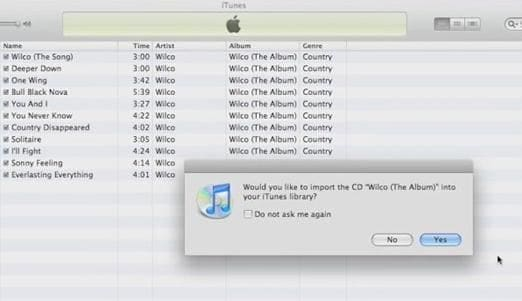put audio cd music to itunes