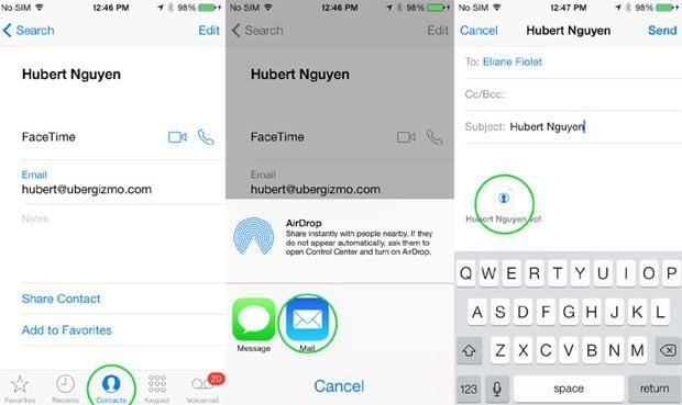 sync contacts from iphone to android