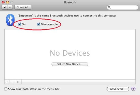 Como Transferir Archivos de iPhone a través de Bluetooth