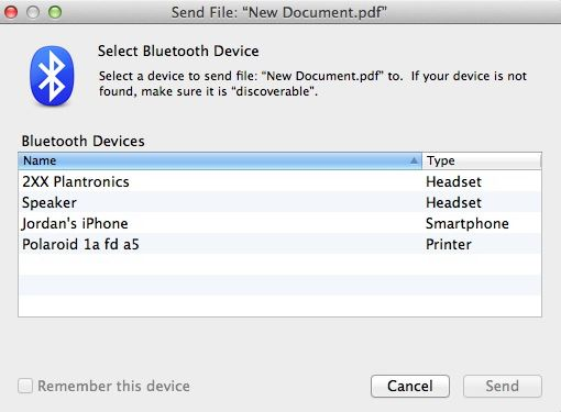 Come trasferire i file da iPhone a Bluetooth