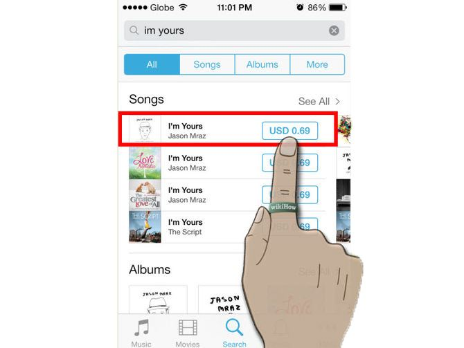 transfer songs from itunes to iphone