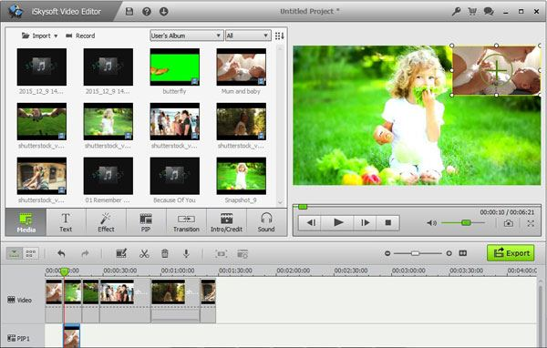 how to add small picture on video filmora