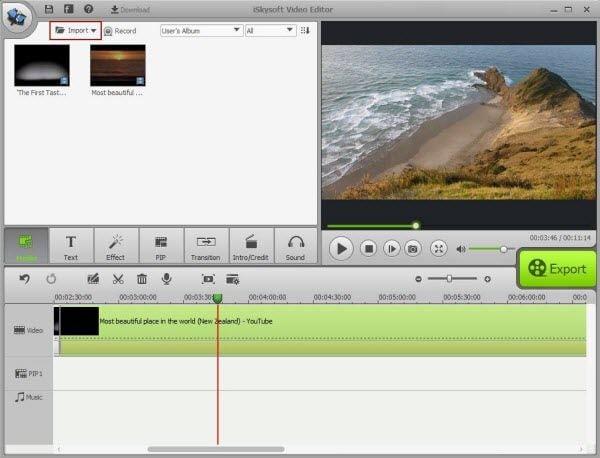 iSkysoft Video Editor for Windows