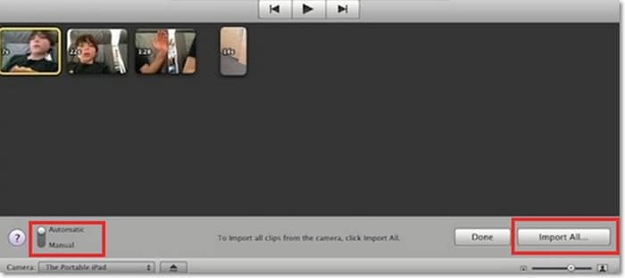import video from camcorder