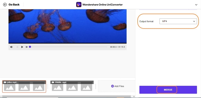 online uniconverter combine video 3