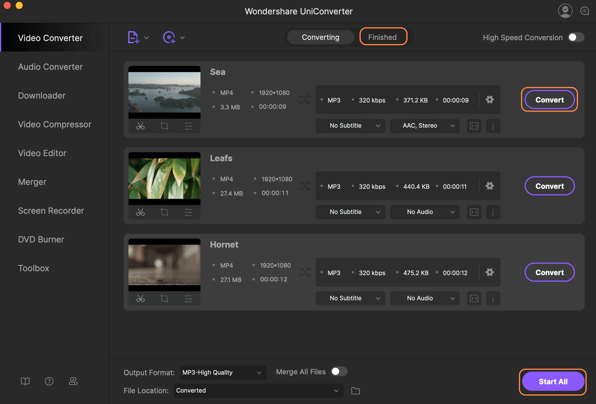 Add MP4 files to this MP4 to XviD converter