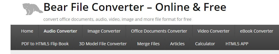 how to convert mp4 to xvid using Bear File Converter
