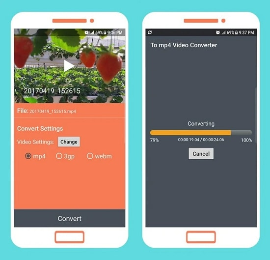 MP4 to 3GP Converter for Android