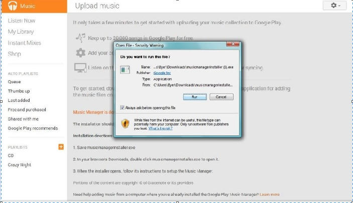 google play music upload flac
